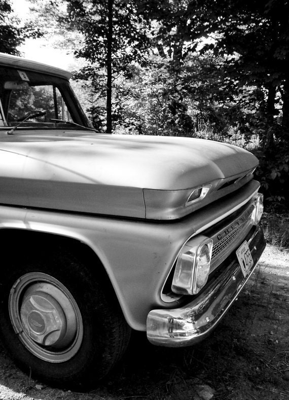 Items similar to Old Truck Chevy Black and White Signed ...