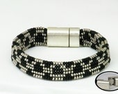 ORIGINAL TRIBAL INSPIRED with Silver filled and Onyx Cuff