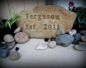 Custom Name Rock/Sign Hand Crafted
