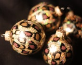 Leopard Print Christmas Ornaments - BeNsTyle