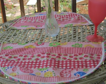 Watermelon-look Summer Placemats