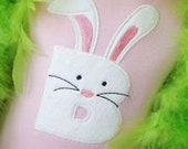 Bunny Alpha Applique design