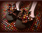 Colorful Polka Dot Shoe Clips (Brown, Yellow, Blue, Orange, Pink, White, and Green)