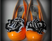 B&W Zebra Shoe Clips