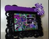 Purple & White Polka Dot Stretchy Headband