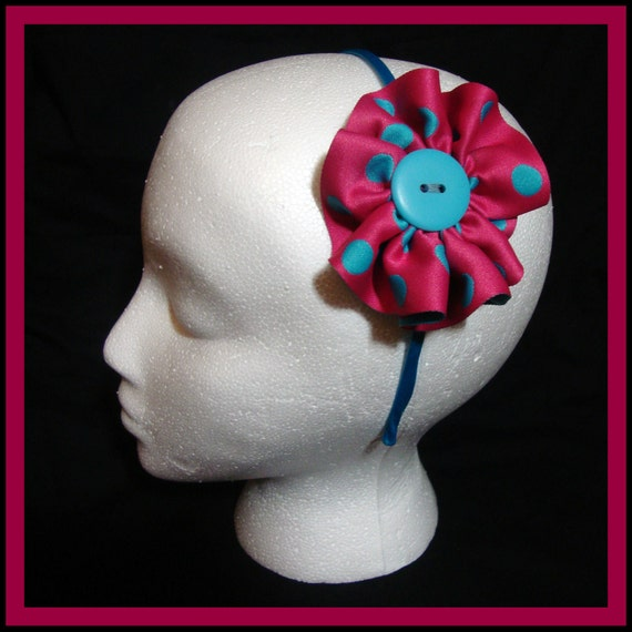 Dainty Dot (Pink & Blue) Headband