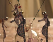Magic princess SEA HORSE WANDS party favors Hand crafted