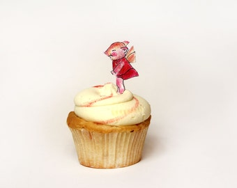 PIG FAIRY cup cake topper Party favor