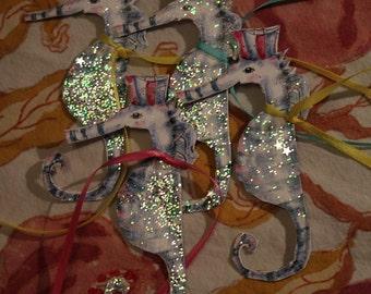 Princess Sea horse gift tag decoration