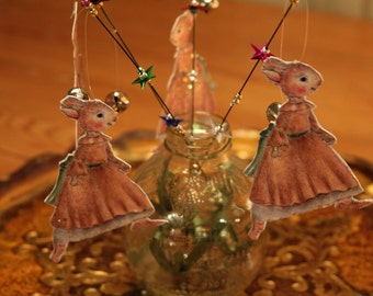 BUNNY MAGIC WAND -The Sparkling Brown Bunny Party favor
