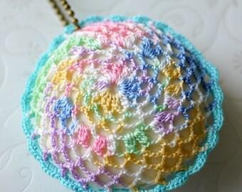 Crochet Pillow Charm (Blue)