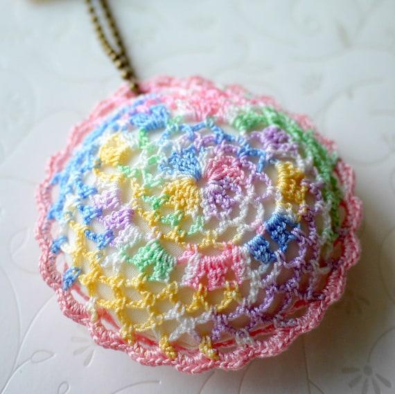 Crochet Pillow Charm (Pink)