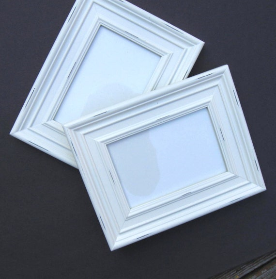 SALE, Pair of White Photo Frames,  Home and Living, Home Decor