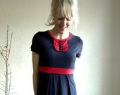 "Wonderful Dress ""Fanny"" in navyblue-red"