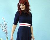 "Dress ""Jane"", navyblue-white-red"