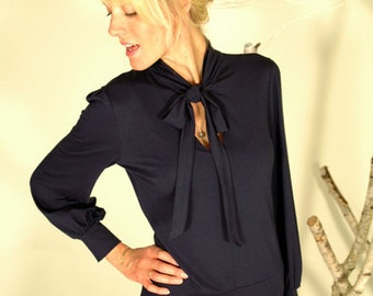 """In many different colours: Elegant dress """"Stella"""", navyblue"""