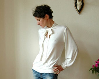 "Jersey shirt ""Stella"" in cremewhite"