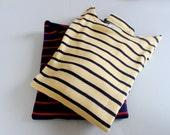 Vintage LL Bean French Sailor Shirt, Yellow/Navy