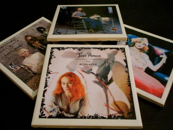 Tori Amos - Handmade Coasters - Set of 4