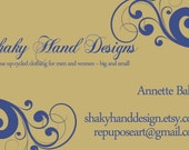 ONLY FOR AB - Premade banner with custom business card designs