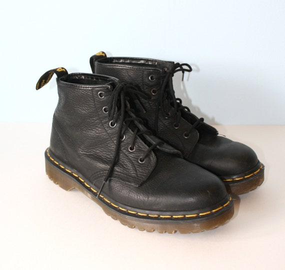 doc martens boots vintage black leather dr by
