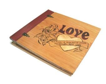 Personalized Scrapbook  Album  -Custom Wood Wedding Scrapbook - For 12x12 pages
