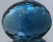 Handcut Polished Faceted Loose Gemstone Natural London Blue Topaz 8.63 Ct. Jewelry Supplies