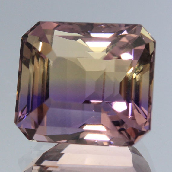 Handmade Polished Faceted Loose Gemstones Natural Ametrine Octagon 7.76 Ct. Jewelry Supplies