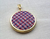 Vintage Fabric Necklace