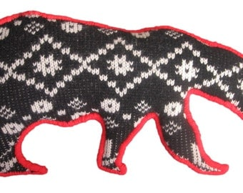 Winter Woolly: Polar bear with coral accent