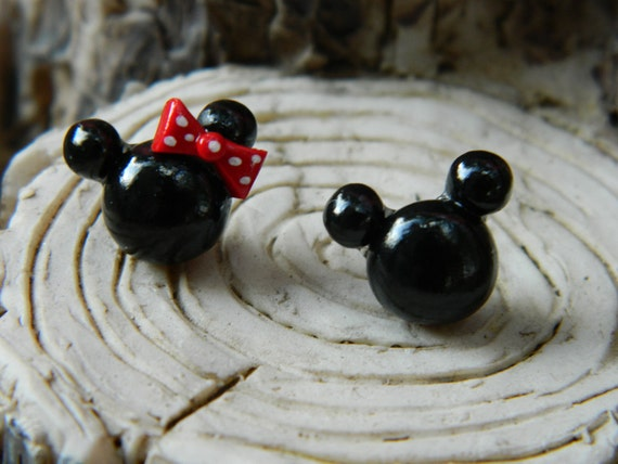 Mickey and Minnie Mouse Inspired Studs
