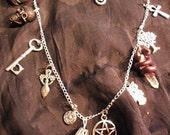 witch talisman charms necklace