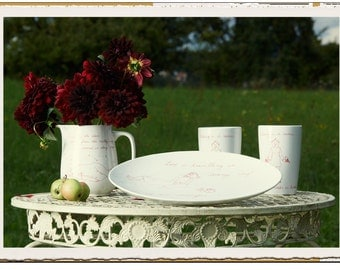 "Cup 0,5l, white porcelain motif ""Nothing"""