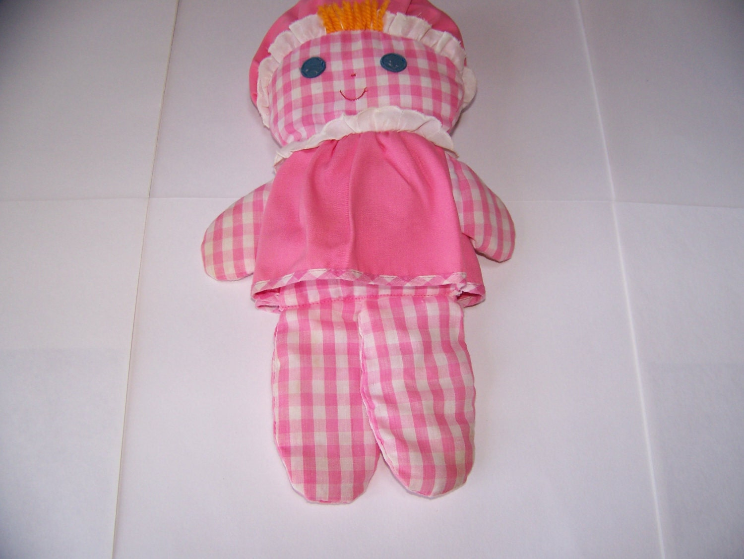 Fisher Price Pink Rattle Doll Baby S First Doll 1975
