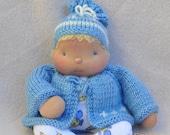 Soft Sculptured Baby in Blue