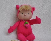 "ON SALE. Soft Sculptured Baby Doll ""Strawberry"""