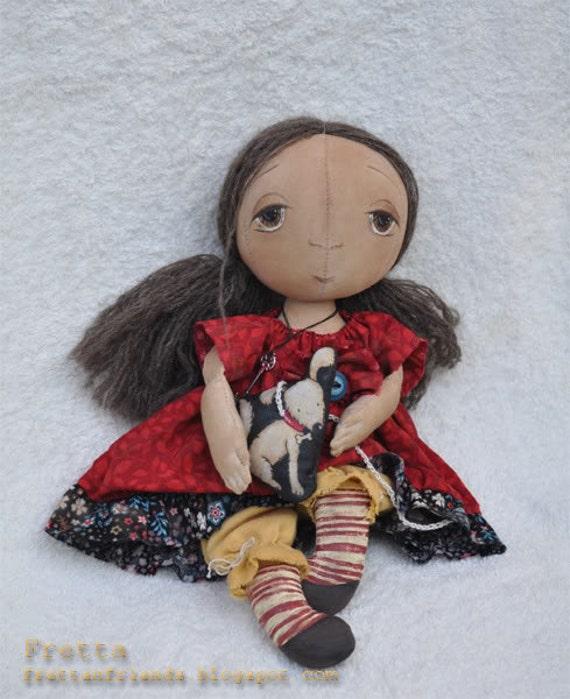 Ruth, Round Head Primitive doll