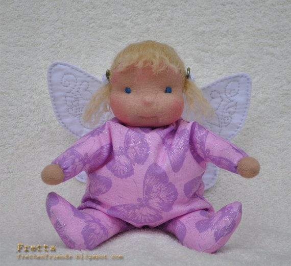 Waldorf Sitting Baby Butterfly or a Fairy Baby / 07'2012