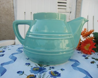 vintage french jug in delicate watery green color