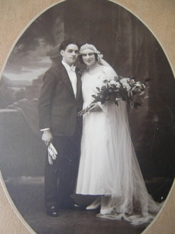 Photo of a 1920 French marriage