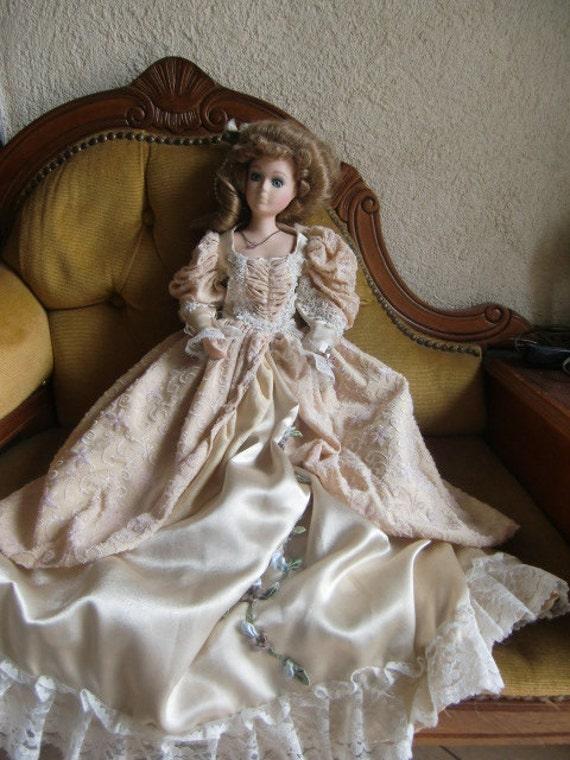Vintage french 1960 Porcelain Doll