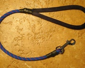 2 Foot Climbing Rope Dog Leash in Blue
