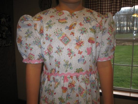 Modest Mennonite Girls Spring Dress Size 8-10
