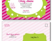 PRINTABLE (DIY) - Pink & Green Owl Baby Shower Invite