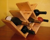 Ipswitch Pine Gull-Wing Style Deluxe Wine Rack in Solid American Pine