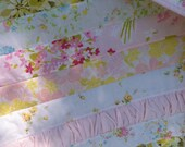 Shabby Chic Baby Girl Quilt - Vintage Linens