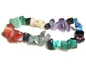 Stretchy Chakra inspired Gemstone Bracelet