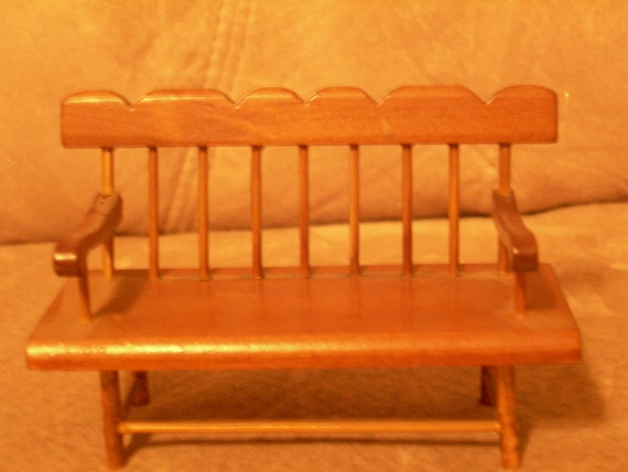 Vintage Doll House Bench