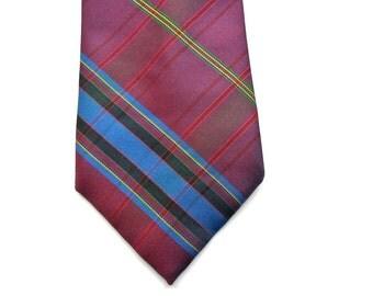Purple Plaid Tie - Sasson - Mens Plaid Tie - Mens Neckties - Mens Necktie Ties - Men's Necktie - Holiday Gift Ideas - Gifts For Men - Gift