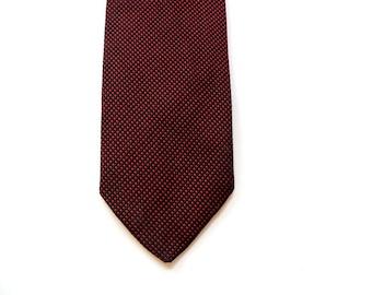 "Silk Skinny Tie - Tiny Red Dots - 2.25"" - Polka Dot Tie - Gimbels - Men's Skinny Tie - Mens Skinny Tie - Indie - Hipster"